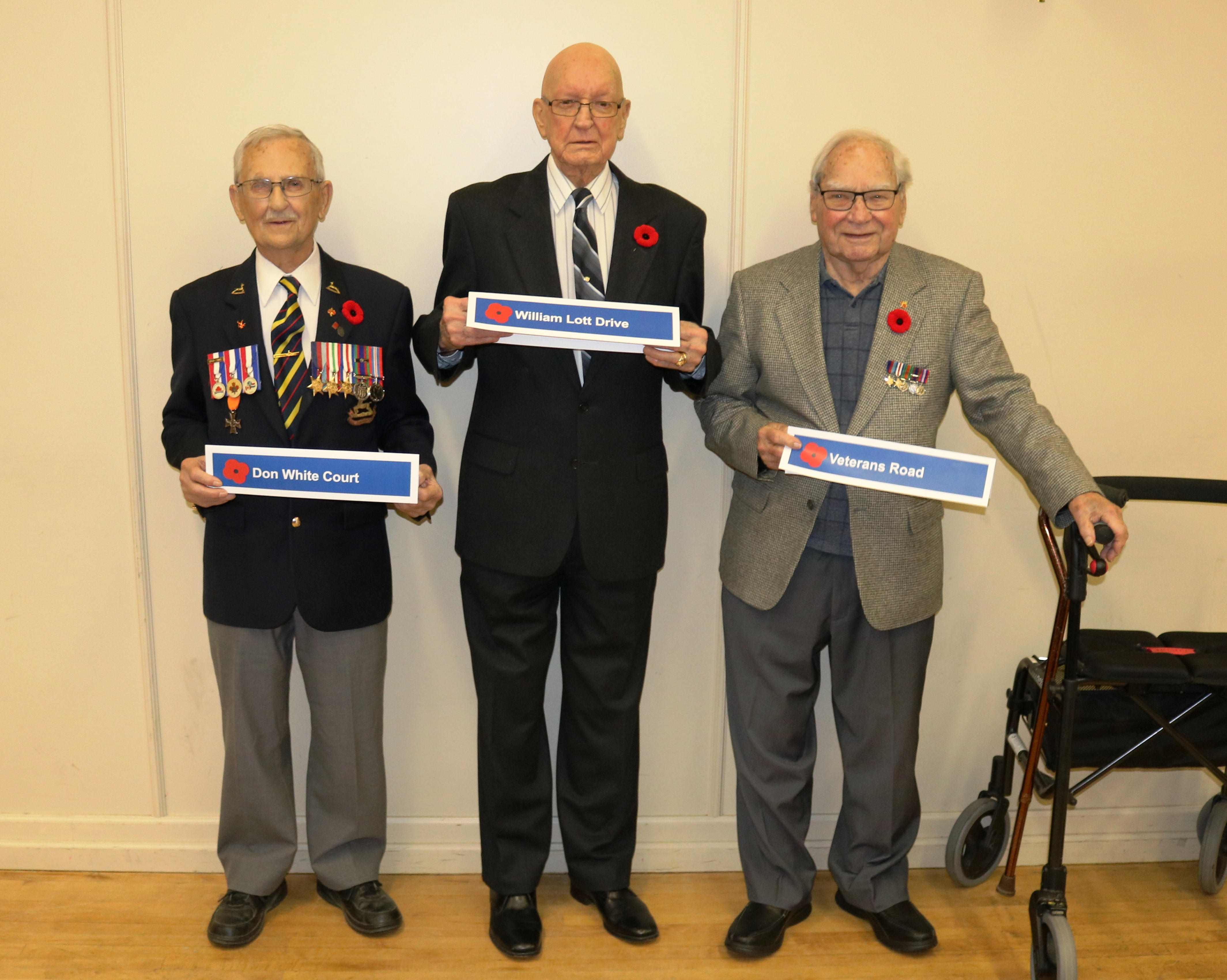 Veterans in attendance at the event