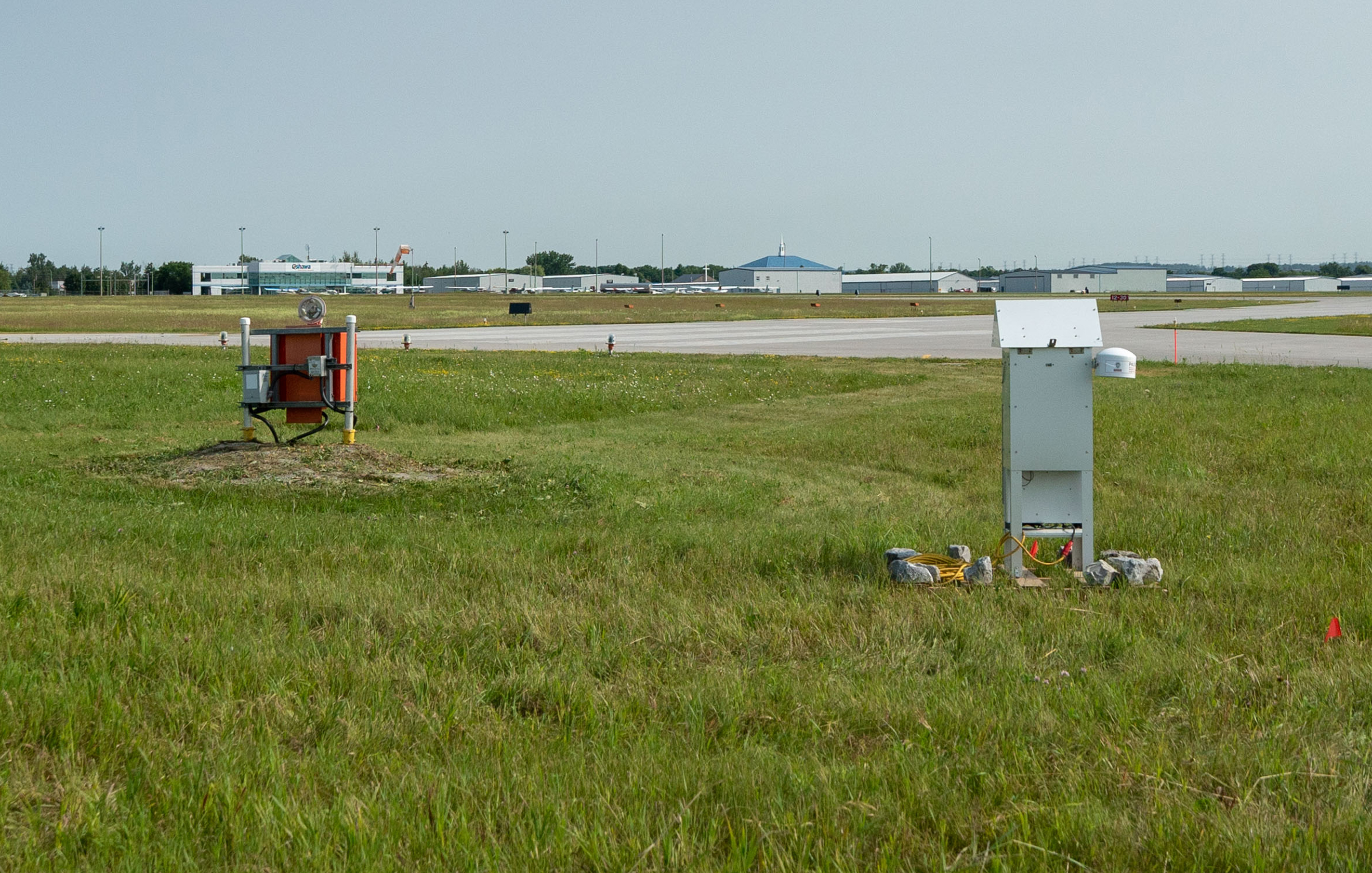 Air quality and noise testing equipment at the Oshawa Executive Airport