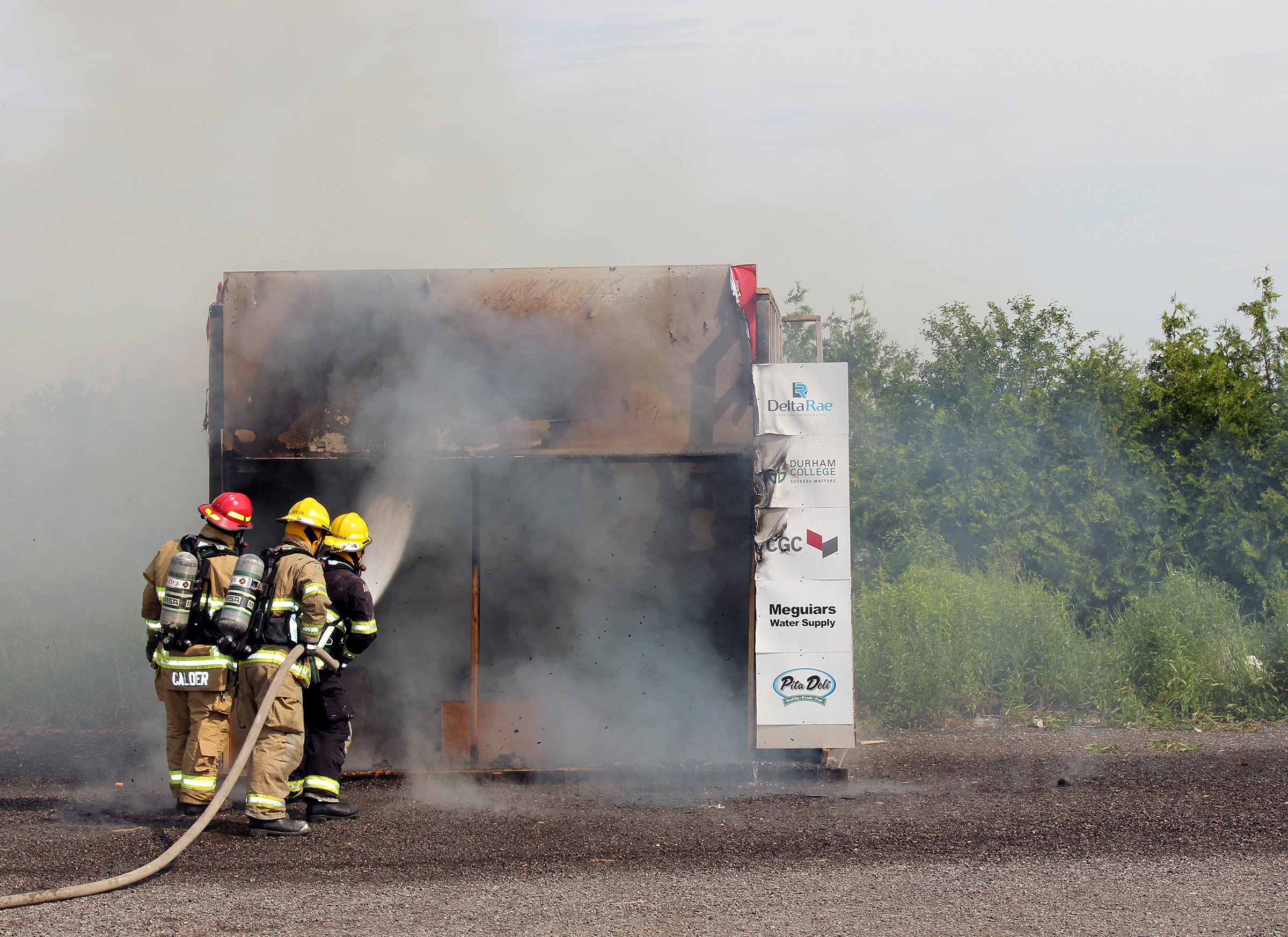 live burn demonstration
