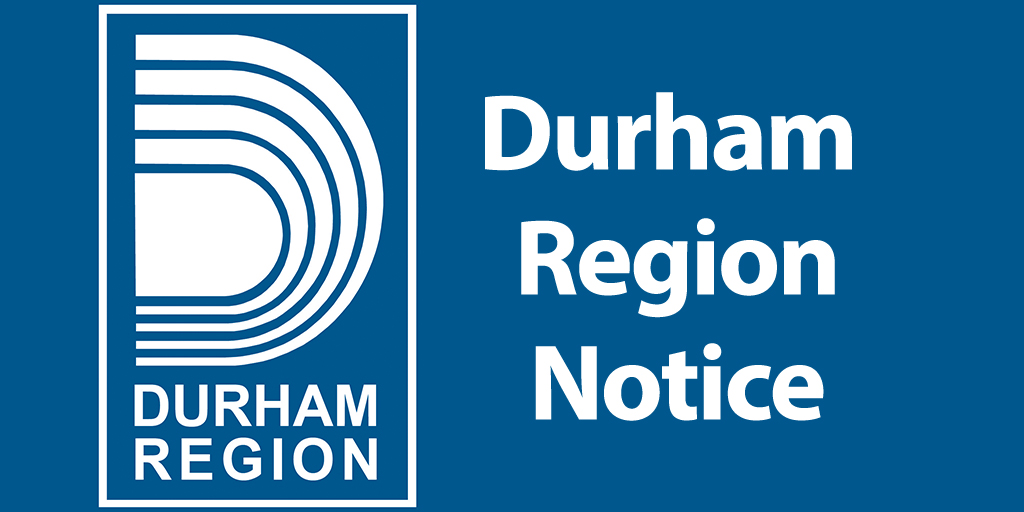 Durham Region Notice