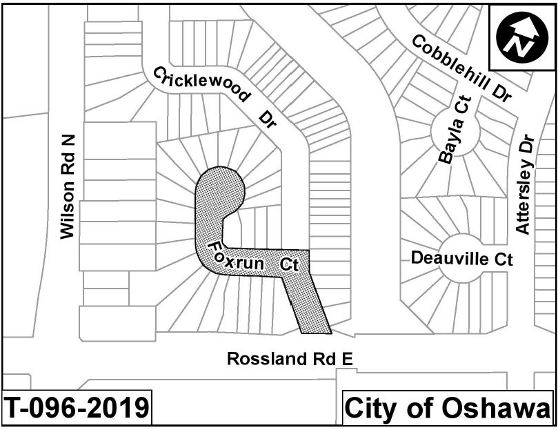 Map of construction area.
