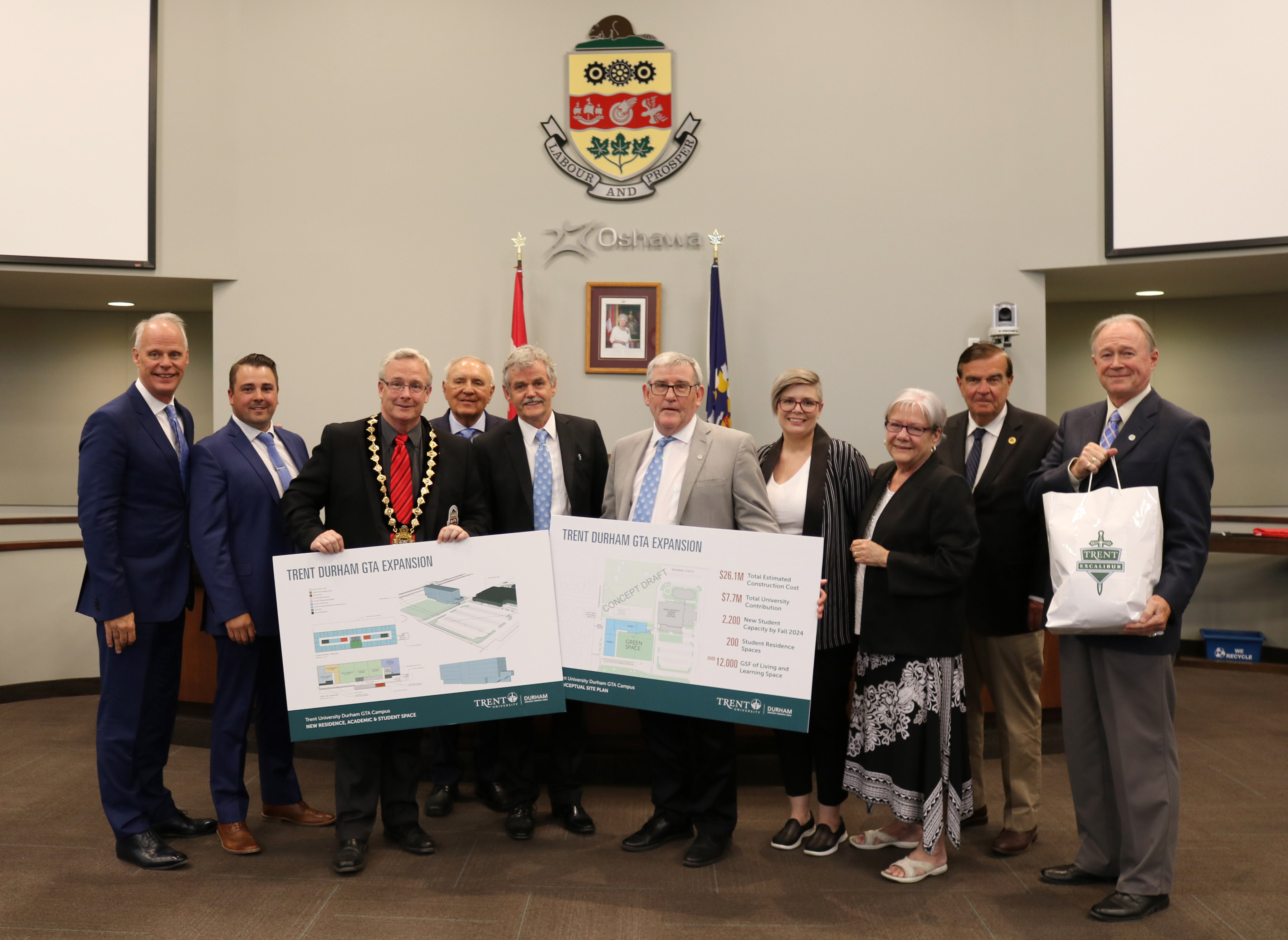Trent University unveils expansion plans to Oshawa City Council at the June 11 Council meeting