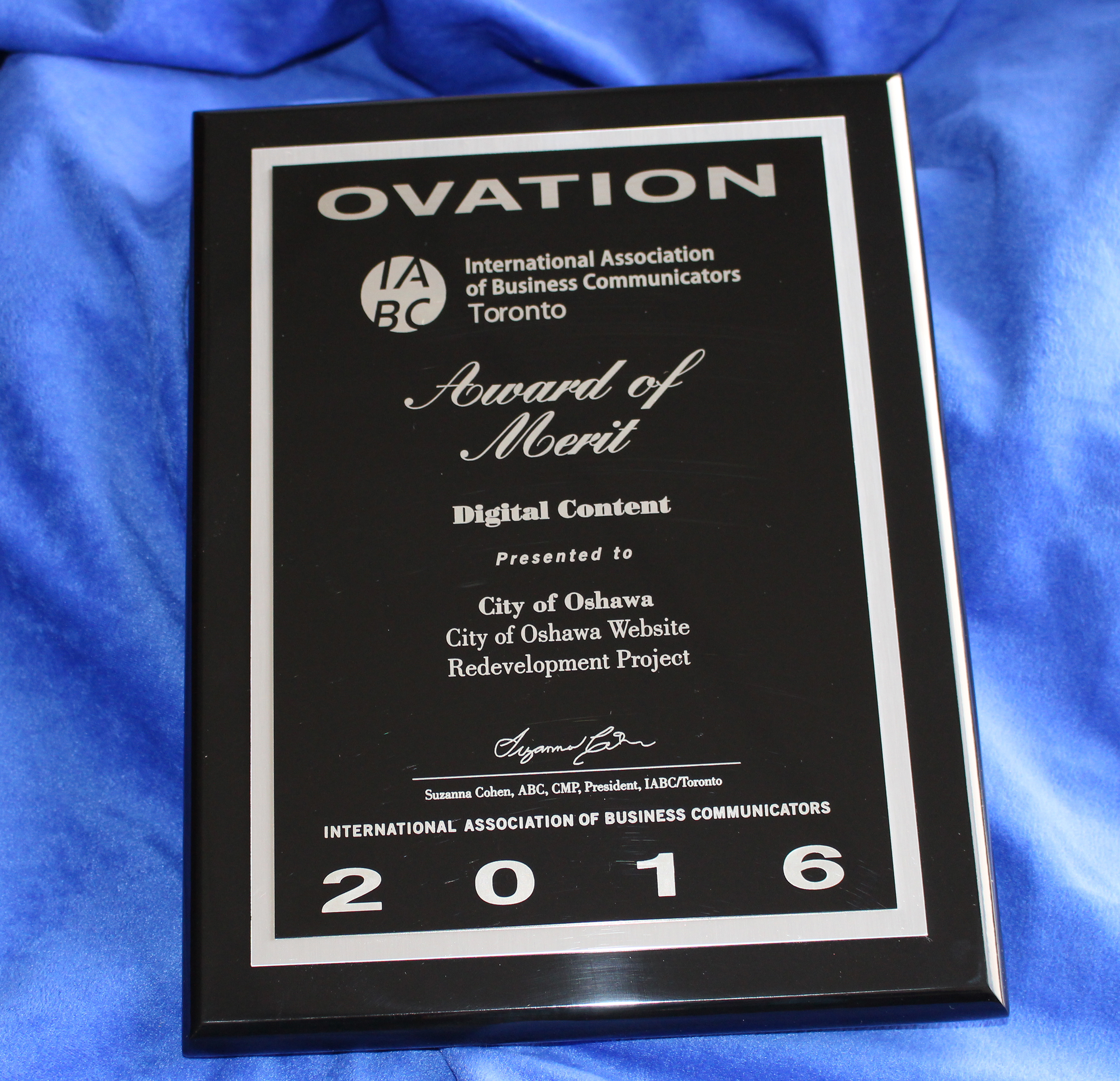 OVATION Award of Merit