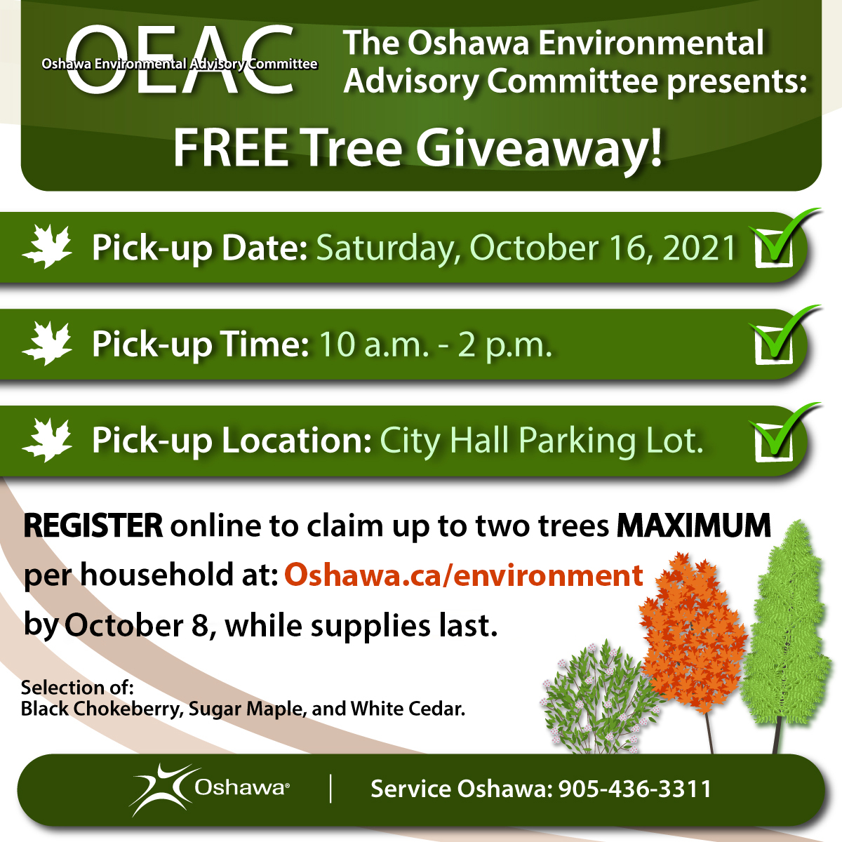 OEAC Tree giveaway infographic