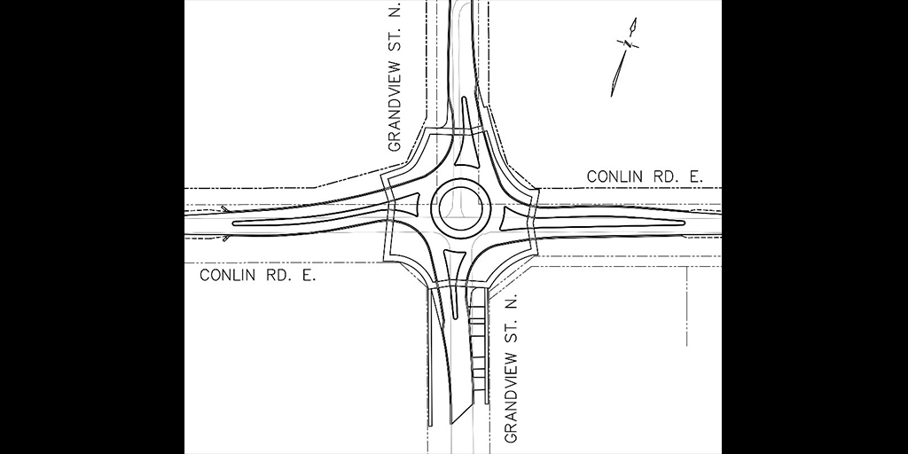 Map of proposed roundabout