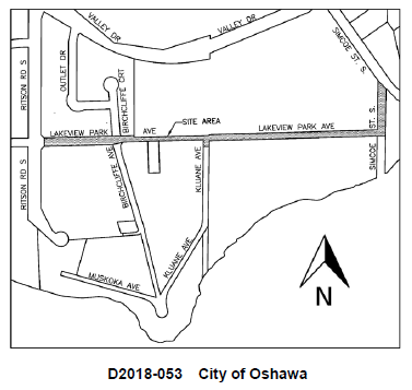 Map of Lakeview Park Avenue road closure