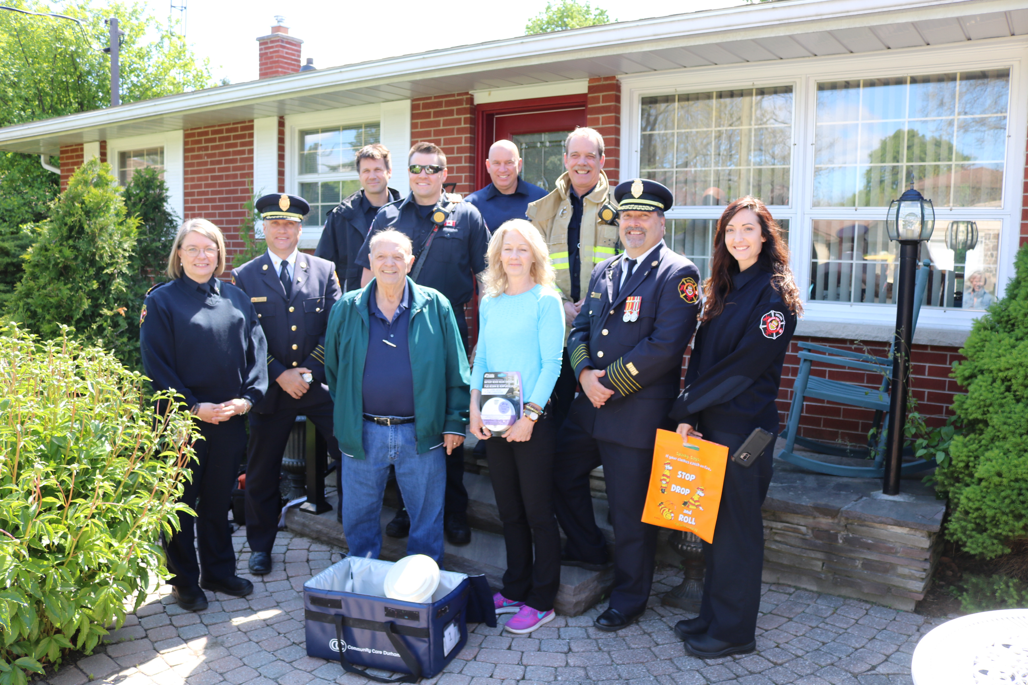 Oshawa Fire Services is delivering Meals on Wheels along with fire safety reminders for the month of June during Seniors Month.
