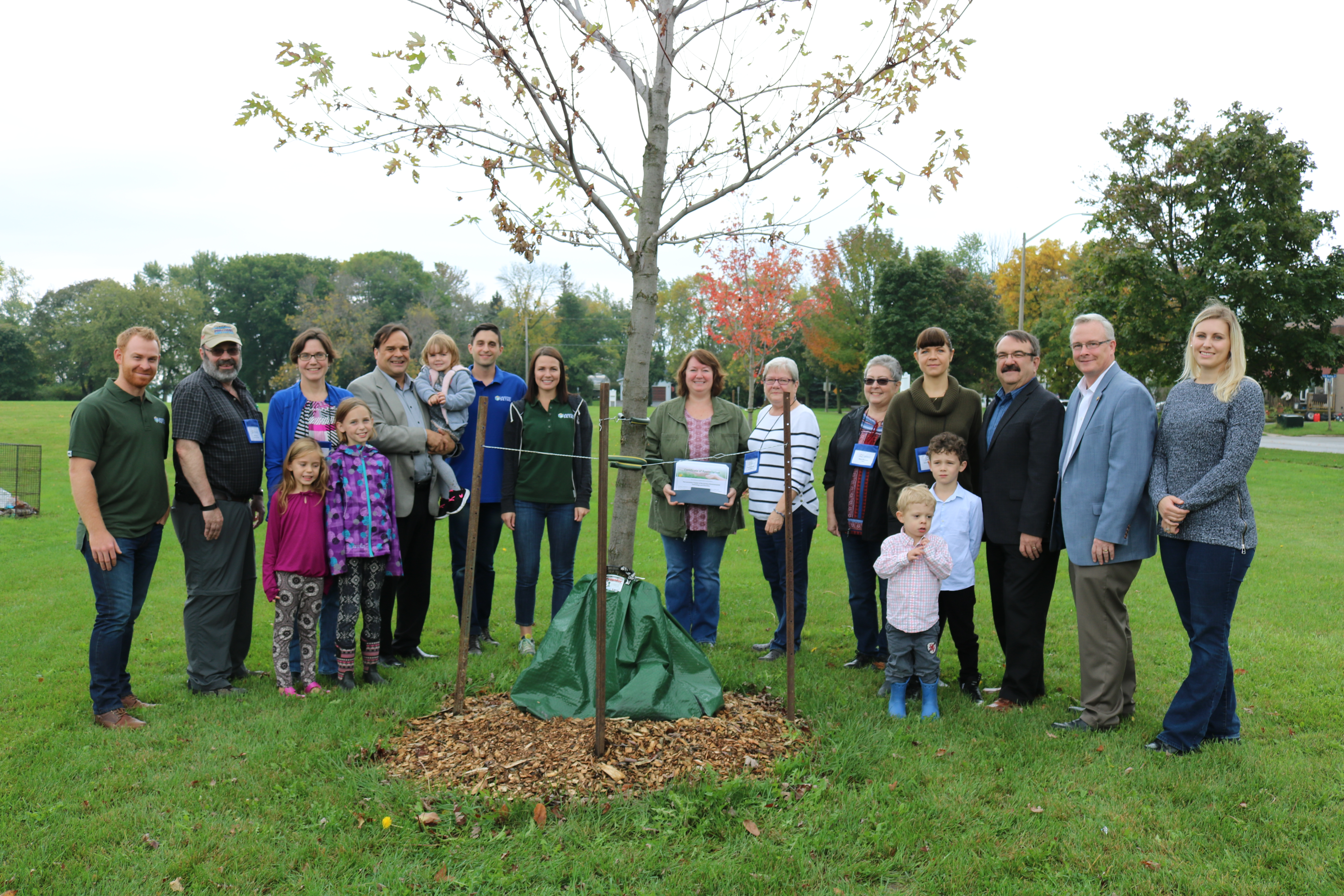 Included in the Photo: Mayor, John Henry, Regional and City Councillor Bob Chapman, City Councillor Gail Bates, City staff, members of the Oshawa Environmental Advisory Committee and representatives from the Laurentian Chapter of the Society of Environmental Toxicology and Chemistry.