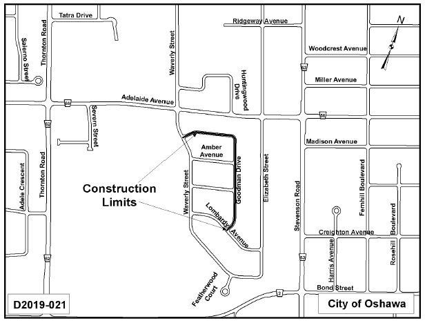 Map of construction area