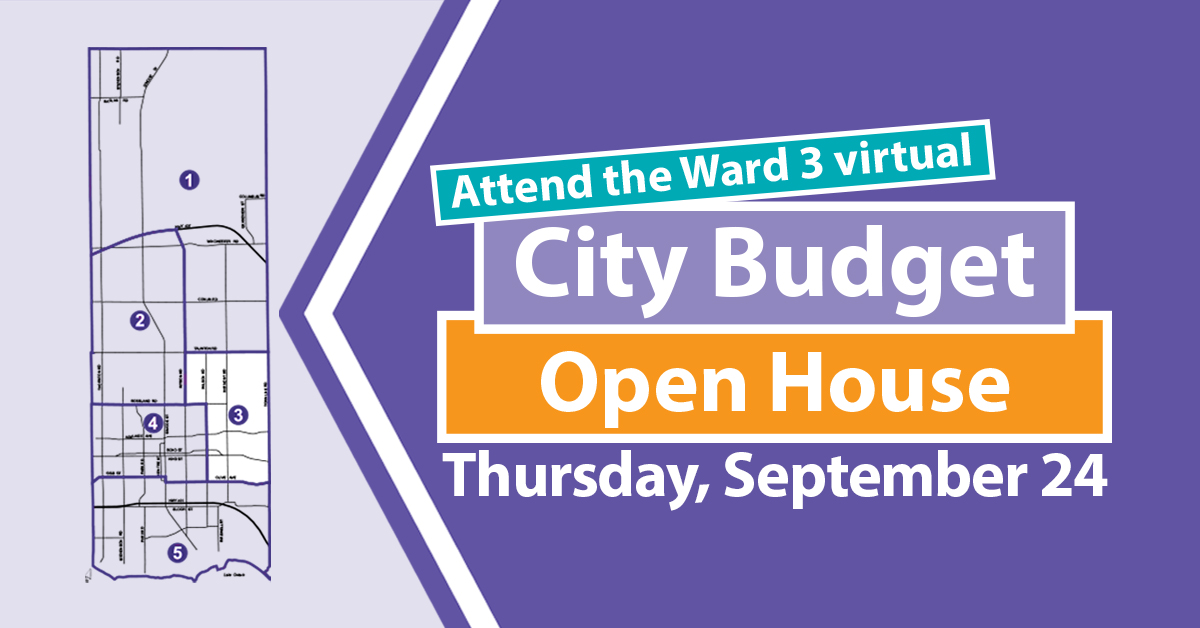 Ward 3 virtual City Budget Open House
