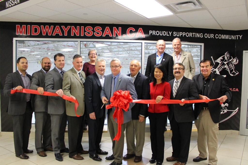 Midway Nissan sponsorship ribbon cutting at Donevan Recreation Complex