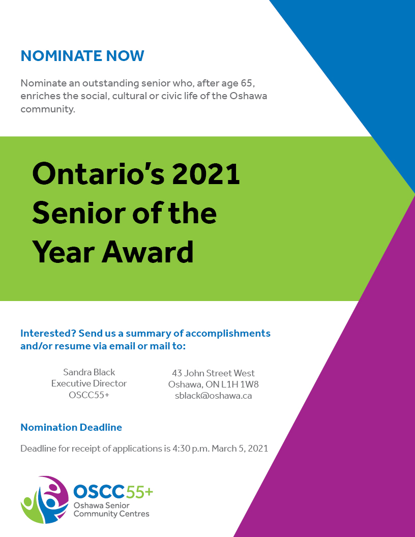Senior of the Year Call for Nomination