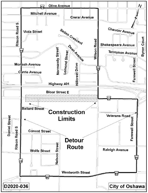 Map of the construction area.