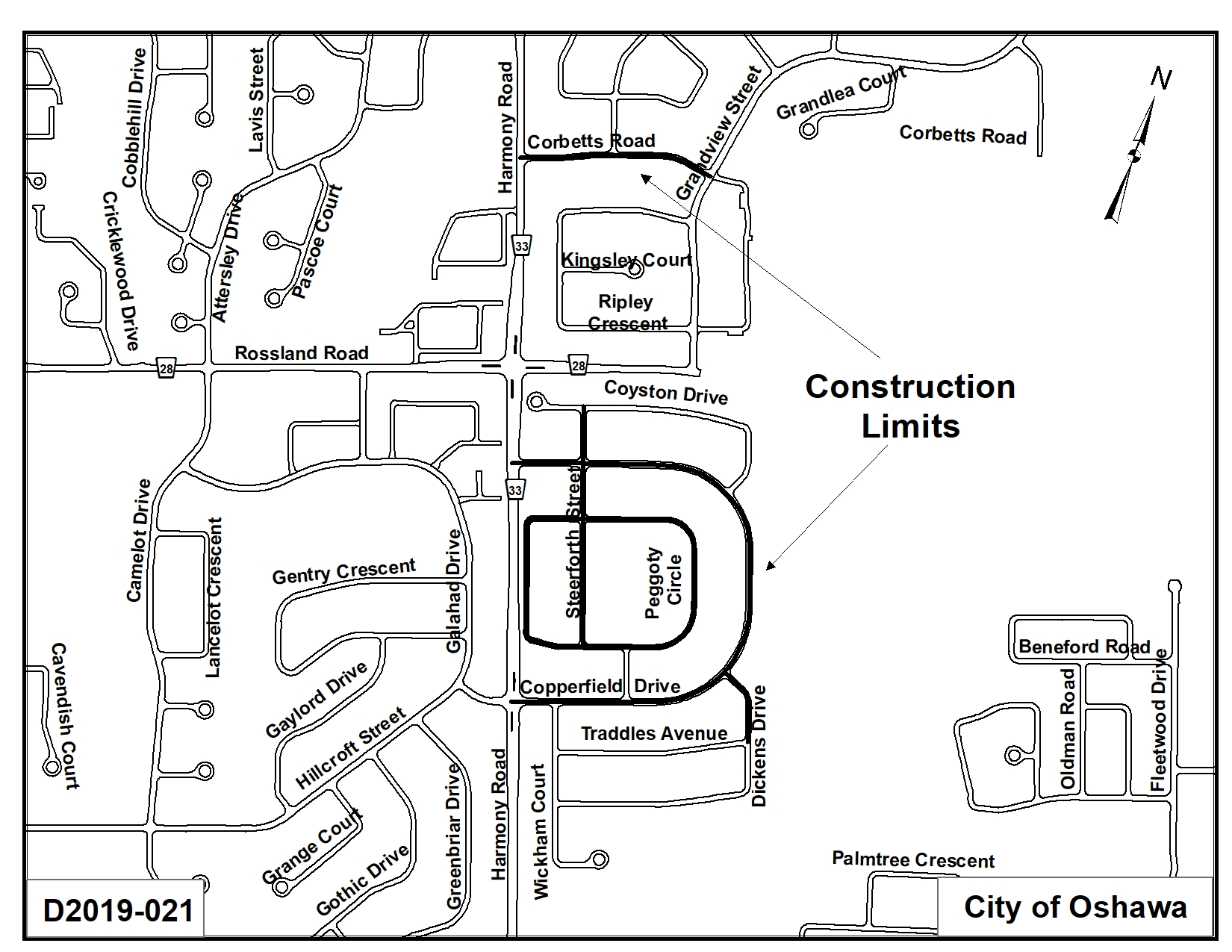 Map of where the Polybutylene Water Service Replacement will occur.