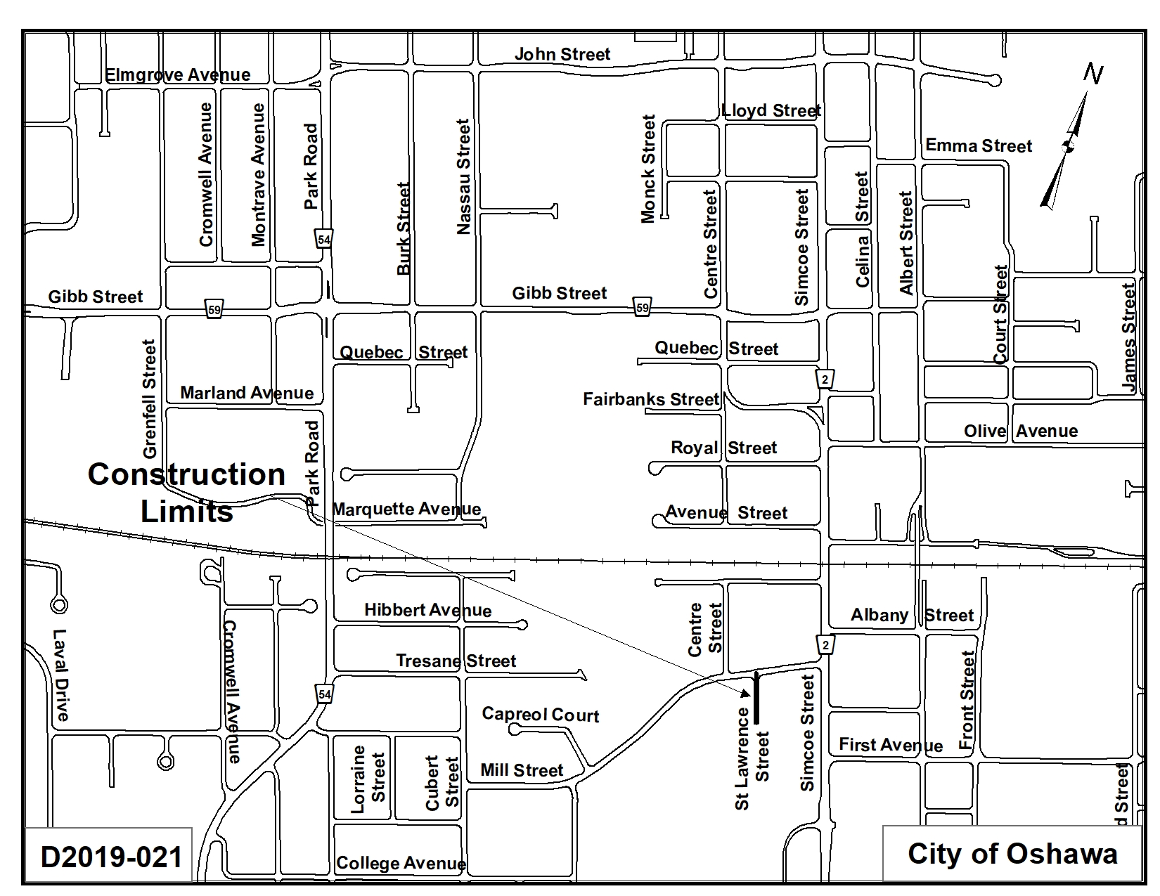 Map of St. Lawrence Street