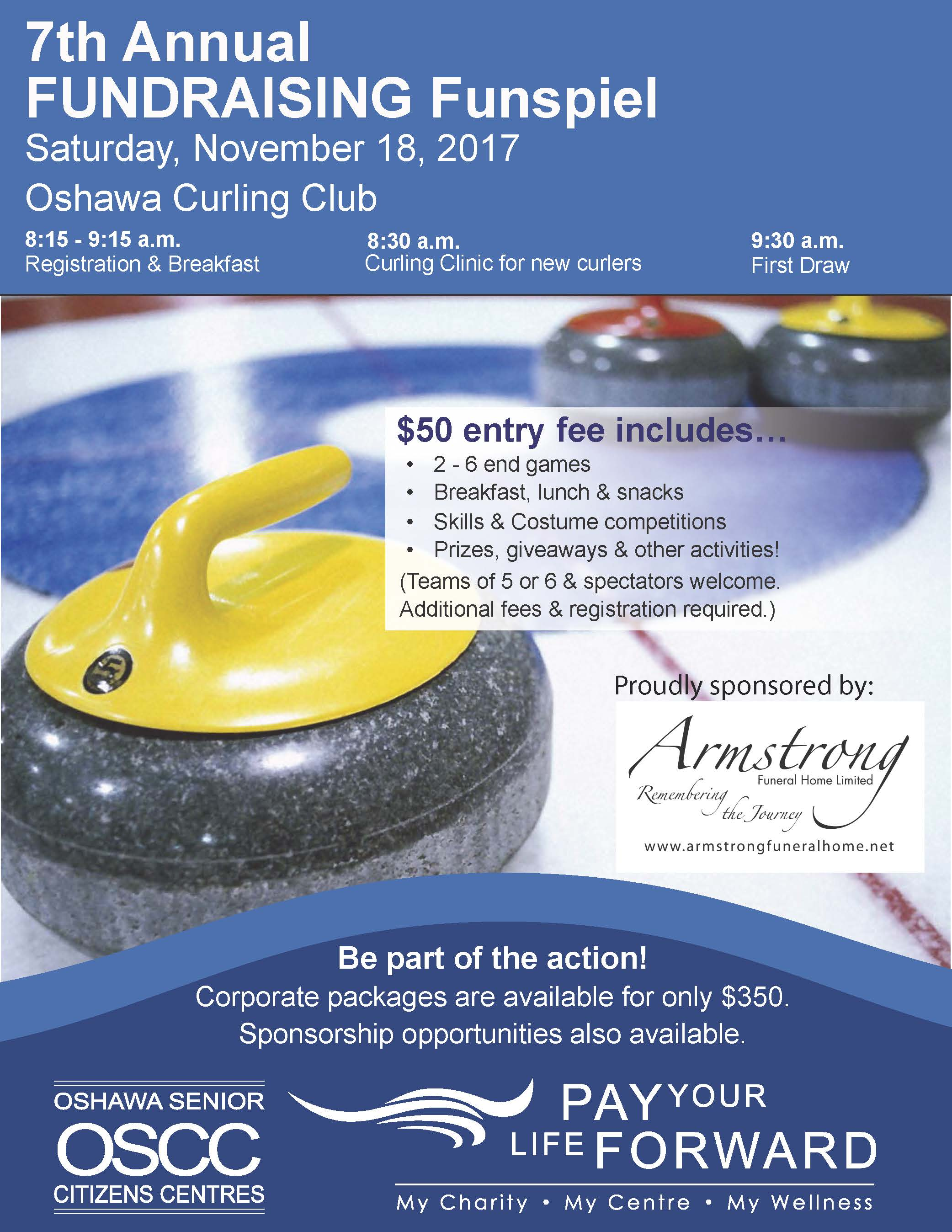 Curling Poster Flyer 2017